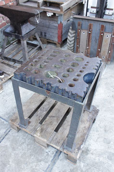 # 2537 - giant swage block , about 410 lbs with stand if wanted