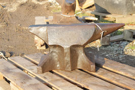 # 3071 -antique forged bavarian anvil with about 245 pounds , dated 1880 !!  incl. 1 hardy . still in good working order - all original