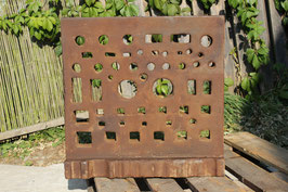 # 2588 - very large rare L shape swage block with 23 x 22,5 inches , all holes free