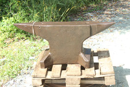 # 3615 - very old forged german double horn anvil with 294 kg marked = 647 lbs