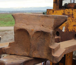 SOLD SOLD !!           # 1102 - antique german church window anvil