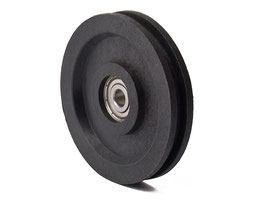 Cable Pulley Ø 63 mm for ropes up to Ø 4 mm - single ball bearing