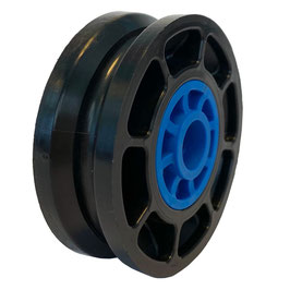 Cable Pulley Ø 52 mm for ropes up to Ø 4 mm - plain bearing inserts