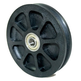 Cable Pulley Ø 100 mm for ropes up to Ø 4 mm - double ball bearing with extended inner rings