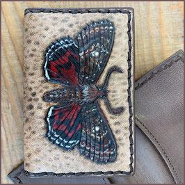 Kartenmäppchen Punzierung Schmetterling Ordensband