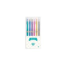 Djeco - 6 stylos gel pailletés
