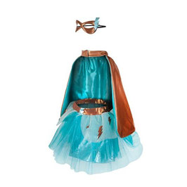 Costume super Héroïne turquoise 4/6ans