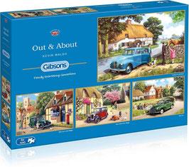 Puzzle 4 x 500 Pièces Out & About