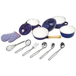Set de Cuisine bleu en métal