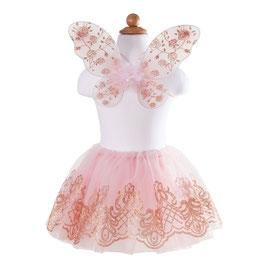 Costume de Luxe Tutu et ailes rose poudré 4/7ans