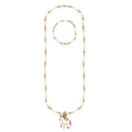 Ensemble collier et bracelet licorne magique