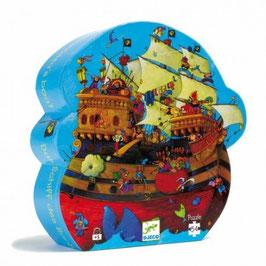 Djeco - Puzzle Le Bateau de BarbeRousse 54 pièces