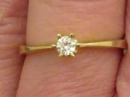 Solitaire Ring Zirkonia