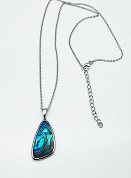 Collier mit Abalone   Silber
