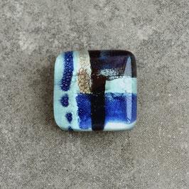 Cabujón mediano azul, diseño abstracto