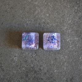 Par de cuentas sin perforar, color lila, 9mm