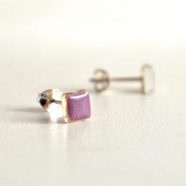 Pendientes Mini color lila