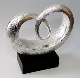 Skulptur Silber Curl