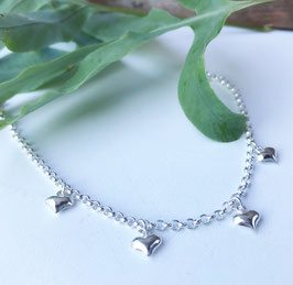 Armketteli Silber mit Herzli