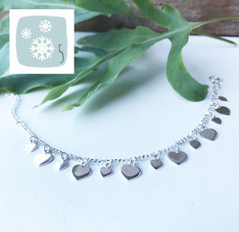 5.Dezember: Armketteli Silber mit Herzli flach
