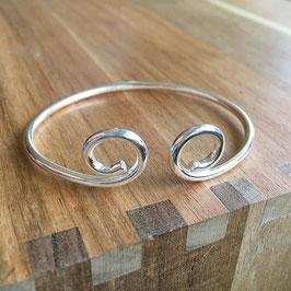 Armspange Doppelspirale Silber