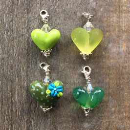 Herzli-Charms grüne Serie