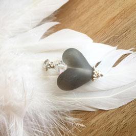 Herzli-Charms Grau matt