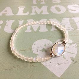 Armband Mondstein Oval Silber