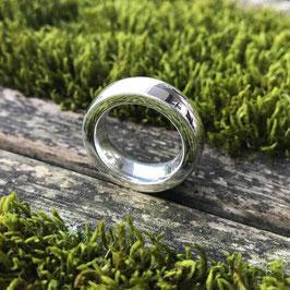 Fingerring Silber massiv glanz