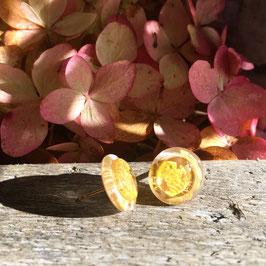 Ohrstecker rund mit echtem Blattgold