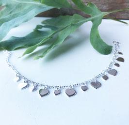 Armketteli Silber mit Herzli flach