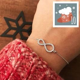 10.Dezember: Armkette Infinity mit Zirkonia
