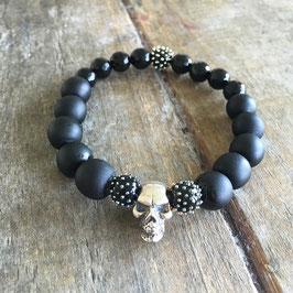 Armband - Schwarz SKULL