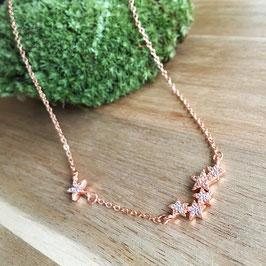 Sternengruppe Halskette Rosé