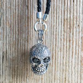 Skull Silber mit Onyx-Augen