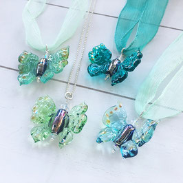 Glasperlen-Schmetterlinge Mint