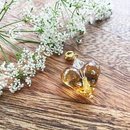 Herzli-Charms Gold-Braun