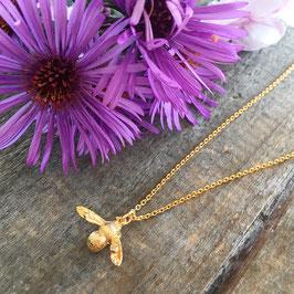 Bienen-Anhänger Gold mit Halskette