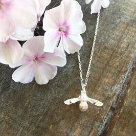 Bienen-Anhänger Silber mit Halskette