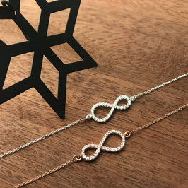 Infinity-Armkette in Silber oder Rosé