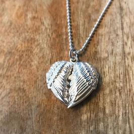 Silber-Herzli mit Flügel-Deckel
