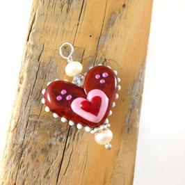 Glasperlen-Lebkuchenherz Herz