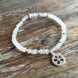 Armband Mondstein mit Silberanhänger