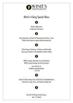 WINIT's  4-Gang Special Dinner | Genussvoll geniessen all inclusive für zwei