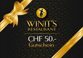 WINIT's Geschenkgutschein CHF 50.-