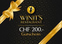 WINIT's Geschenkgutschein CHF 200.-