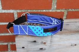 Hundehalsband, schwarz/blau, weiß, BEST Kite