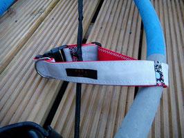 Hundehalsband rot/grau