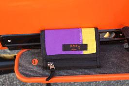 Geldbörse II, schwarz/gelb, lila, North Sails