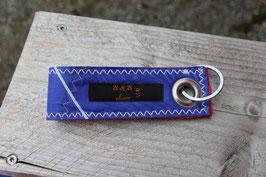 Schlüsselanhänger, rot/blau, hellblau, BEST